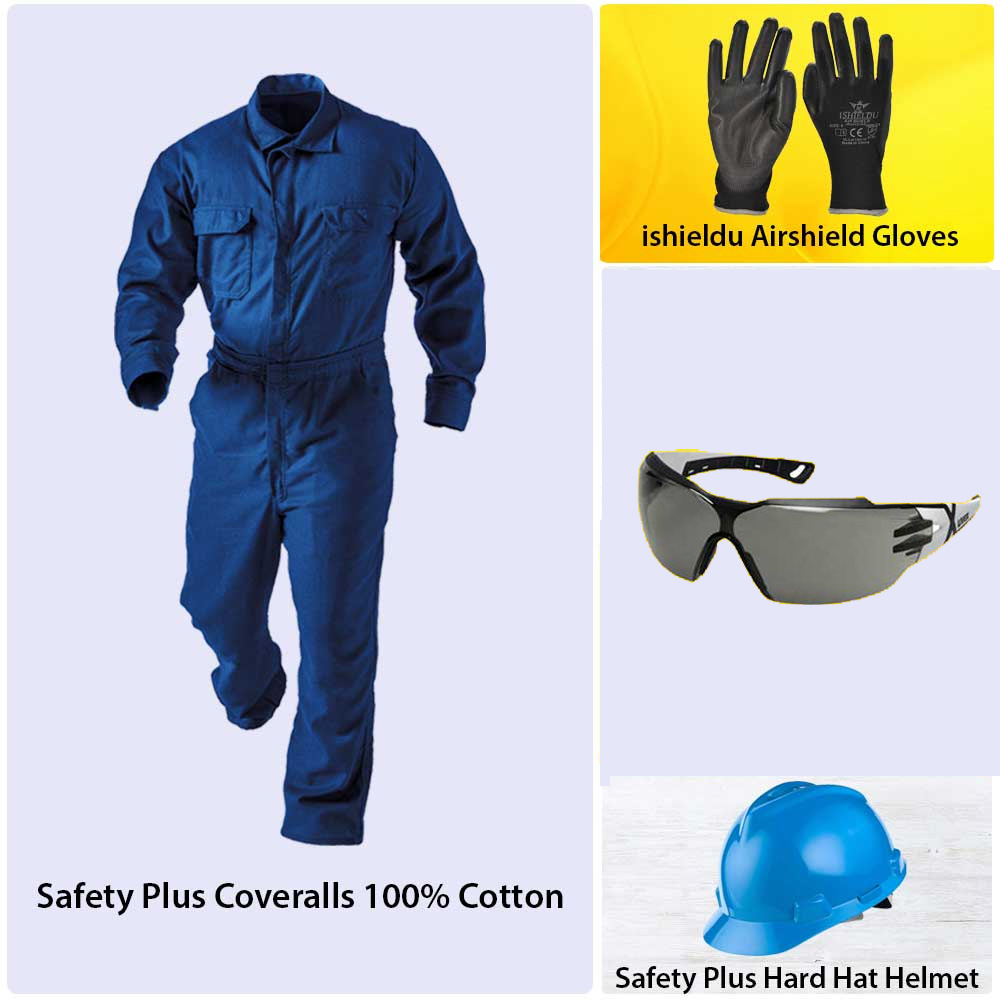 Bundle Offer (SP Coverall + SP Spectacles + SP Helmet + Airshield Gloves + SP shoes)