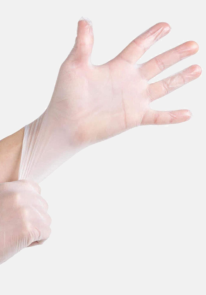 Disposable Vinyl Gloves Clear Powder Free