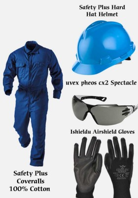 Bundle Offer (Coverall + Spectacles + Helmet + Gloves)