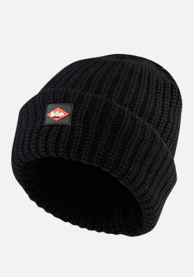 Lee Cooper Chunky Beanie Hat - Knitted Super Thick Thermal Work Wear